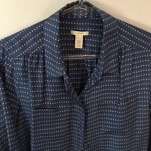 Jcrew 100%silk Blythe blouse nwot size 4